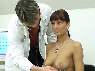 curvaceous Babe Clinic Breast Exams